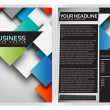 Colorful 3D Squares - Business Brochure Template Vector Design — Stock Vector #12848615