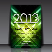2013 New Year Vector Flyer Template — Vettoriale Stock