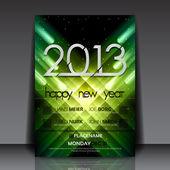 Modello di volantino 2013 anno nuovo vettore — Vettoriale Stock