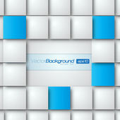 Blank square background for Your Text - Realistic 3D Vector Background — Stock Vector