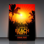 Summer Beach Party Flyer - Vector Design — Cтоковый вектор