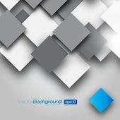 Vierkant lege achtergrond - vector ontwerpconcept — Stockvector