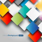 Fundo colorido quadrado em branco - conceito de vector design — Vetorial Stock