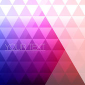 Abstract Triangles Background for Design - Geometric Vector Illustration — Stok Vektör