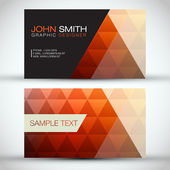 Orange Modern Abstract Business - Card Set EPS10 Vector Design — Stok Vektör