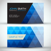 Blue Modern Abstract Business Card Set EPS10 Vector Design — Stock Vector