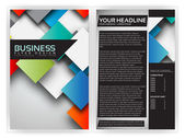 Colorful 3D Squares - Business Brochure Template Vector Design — Stock Vector