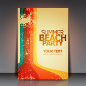 Sommar strand retro party flyer eps10 vektor design — Stockvektor