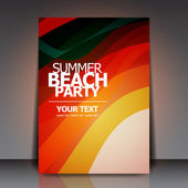 Summer Beach Retro Party Flyer EPS10 Vector Design — Stock Vector