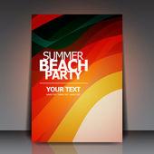 Summer Beach Retro Party Flyer EPS10 Vector Design — Stock Vector