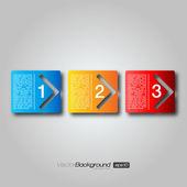 Próximos cajas paso de flecha | diseño eps10 vector — Vector de stock