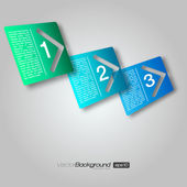 3D Next Step Arrow Boxes | EPS10 Vector Design — Stockvektor