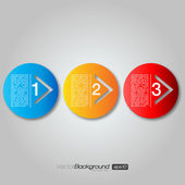 Next Step Arrow Circles | EPS10 Vector Design — Vector de stock