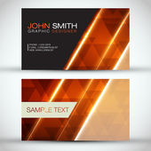 Orange Modern Abstract Business - Card Set | EPS10 Vector Design — Stock Vector