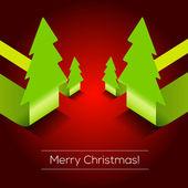 Fond de vecteur 3d Christmas tree | Eps10 Design — Vecteur