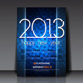 2013 New Year Vector Flyer Template — Stock Vector