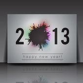 2013 New Year Vector Flyer Template | Editable EPS10 Design — Stock Vector