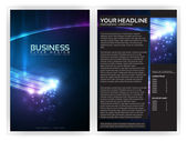 3D Optical Fibers Business Brochure Template | Editable Vector Layout — Stock Vector