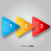 Next Step Arrow Boxes | EPS10 Vector Design — Stok Vektör
