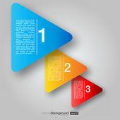 Prochaines boîtes étape fléchées | conception de vecteur eps10 — Vecteur