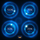 Infographic Blue Neon Vector Design — 图库矢量图片