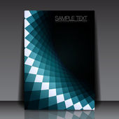 Blue Shape Flyer Template Design | EPS10 Vector Background — Stockvector
