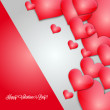 Heart for Valentine's Day Background — Stock Vector