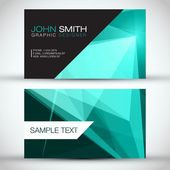 Vector abstract creative business cards (set template) — Stock Vector