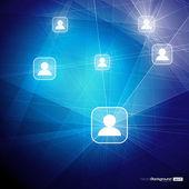Social Media Abstract Illustration — Stock Vector