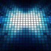 Perspectiva azul mosaico de fundo vector — Vetorial Stock