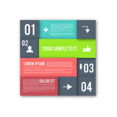 Modern Design Layout - Infographic Elements — Vector de stock