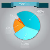 Colorful Business Pie Chart — Stock Vector