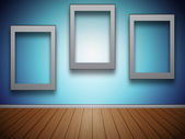 Frames of Pictures on the Wall — Stock Photo