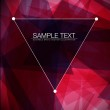 Triangle Abstract Lines Background — Stock Vector