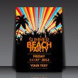 Summer Beach Party Flyer — Stock Vector