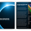 Optical Fibers Business Brochure Template - Stock Vector