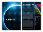 Optical Fibers Business Brochure Template — Stock Vector
