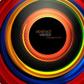 Tecnologia abstrato círculos de fundo vector — Vetorial Stock