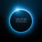 Infographic Blue Neon Vector Design — Stock Vector