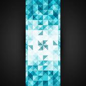Blue Mosaic Vector Background. EPS10 Illustration — Stock Vector