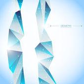 EPS10 3D Blue Network Vector Design — Stock vektor