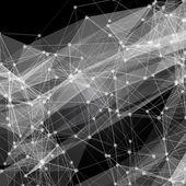 Arrière-plan de lignes modernes noires et blanches. illustration vectorielle — Vecteur