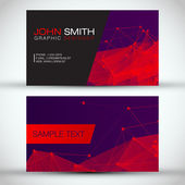 Modern Abstract Business Card — Stock Vector