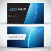Blue Modern Abstract Business Card — Stock Vector