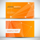 Orange Modern Business-Card Set — Stock Vector