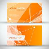 Orange Modern Business-Card Set — Stock Vector