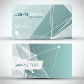Green Modern Business-Card Set — Stock Vector