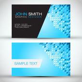 Blue Modern Business-Card Set — Stock Vector
