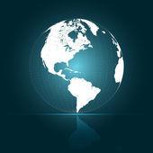 3D Abstract Globe Vector Illustration — Stock Vector