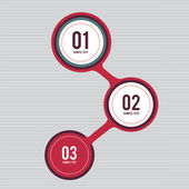 Next Steps Circles Design — Stock Vector
